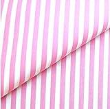 0,5m Streifen-Stoff 5mm rosa/ weiß