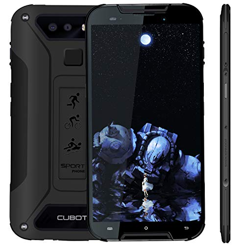 "Cubot Quest Lite (2019) Ultra Dünn Android 9.0 4G Dual SIM IP68 Wasserdicht Sport Outdoor Smartphone ohne Vertrag, 5"" HD Display mit 3000 mAh Akku, 3GB Ram+32GB Rom, Duak Kamera 13M / 8MP, Schwarz"