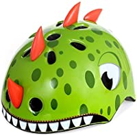 Kingdom GB™ Kids Safety Lightweight Adjustable Helmet Dino/Fox/Bear/Shark/for Cycling/Skateboarding/Skating/Scooter for Ages 3-12