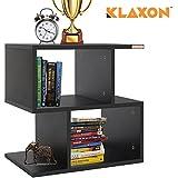 Klaxon S Shape Side Table (Matte Finish, Black)