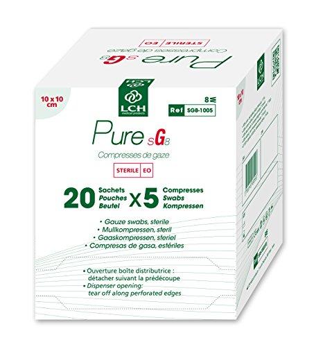 LCH Compresas gasa stérile 17F 8P 10x 10cm