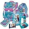 Frozen Anna und ELSA - Die Eiskönigin Schulranzen Premium Ranzen Schulrucksack Rucksack Set Mädchen 1 Klasse Tornister mit Gummizugmappe