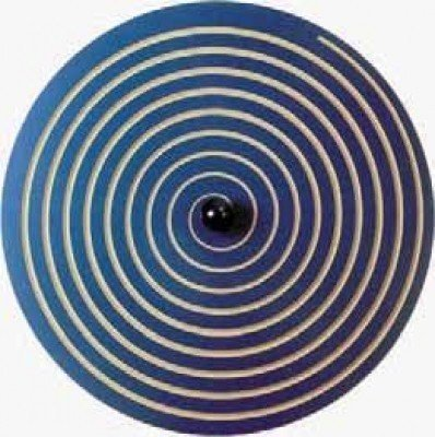 Wandkreisel I Spirale blau aus MDF-Holz!