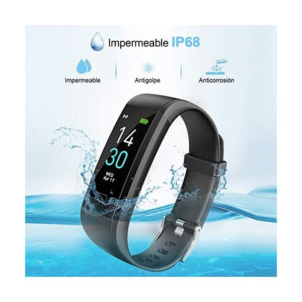 iWalker Smart Pulsera Fitness Tracker, Pulsera Actividad de Frecuencia Cardíaca, Impermeable IP68, Podómetro Deportiva… 9