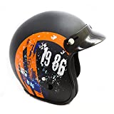 #8: Autofy Power Black and Orange Front Open Helmet