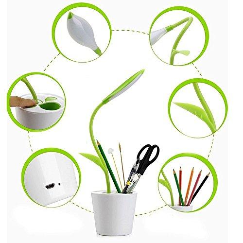 Signstek Mini USB Berührungsempfindliche dimmbar aufladbare niedliche LED Tischlampe mit 3 Helligkeitsstufen (Grün)