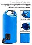 Nordlight Packsack Wasserdicht Dry Bag für Kayak, Kanu, Segeln, Angeln, Strand und Trekking, Seesack Wasserdicht Klein (Blau, 10L)