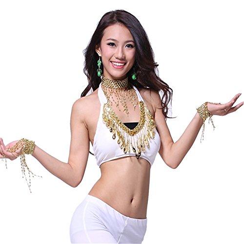 Tanz-Outfits Tanzkleidung Bauchtanz -Kostüm-Set Indian Dance Sexy Bra Top&Indian Dance Sequins Skirt (Outfits Indian Sexy)