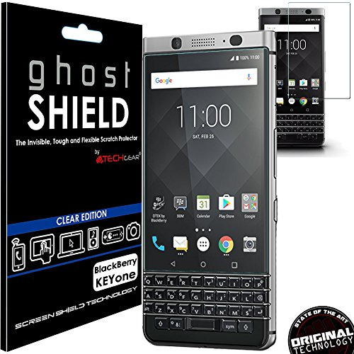 TECHGEAR Protection Écran pour Blackberry KEYone [ghostSHIELD] Film de Protection Souple en TPU avec Protection Totale de l'Écran Compatible pour Blackberry KEYone [Protection 3D Bords Incurvés]