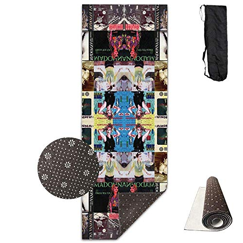 HiExotic Matte Yoga Mat Eco-Friendly Anti Slip Madonna Collage Mat Carrying Strap & Bag Non-Toxic Printedfor Exercise,Yoga and Pilates 71 X 24 Inch Flip-flop-mat