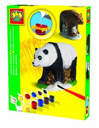 SES Deutschland 1281 - Juego de Moldeado y Pintura diseño Oso Panda