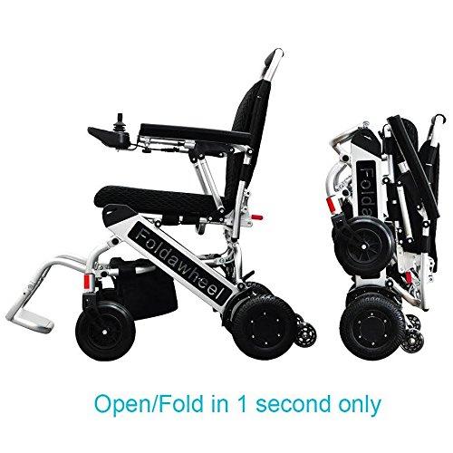 Le plus léger et plus Compact Chaise de puissance dans le monde, Wheelchair88Foldawheel Pw-999ul seulement 20,4kilogram (livré avec repose-pied extensible + Sac de voyage + polymère batterie Li-Ion). motorisé, pliable en quelques secondes.