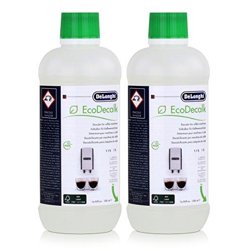DeLonghi SER3018 EcoDecalk Lot de 2 bouteilles d'anti-calcaire pour cafetière ou robots café toutes marques