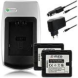 2x Batteries + Chargeur pour Panasonic VW-VBN260 - Voir liste de compatibilité