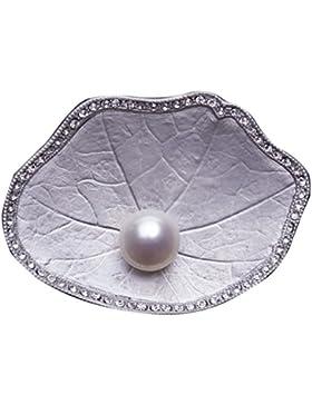 Gortl Brooch Corsage Lotus Leaf Diamond Heart Costoso Generoso Mini Delicato Delicato Strong Fine Elegante Bella...
