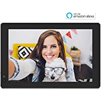 NIXPLAY Seed Digital Photo Frame WiFi 10 inch Widescreen W10B, Blue. Share Photos via Mobile App or E-Mail. Displays HD Pictures and Videos. Smart Picture Frame with Motion Sensor