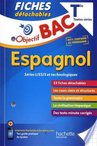 Objectif Bac Fiches Détachables Espagnol Term