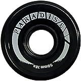 PARADISE PARADISE 59mm 78A Skateboard Cruiser Wheels - Black - Set Of 4 Wheels