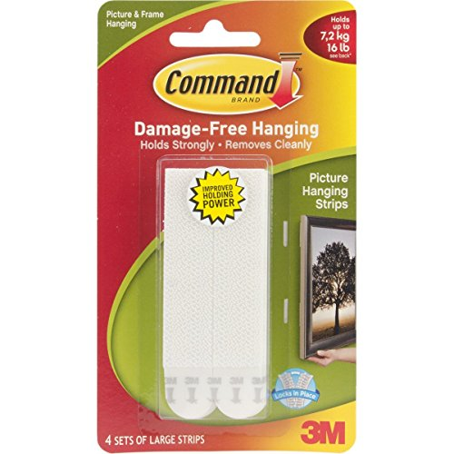 Command Large Picture Hanging Strips, 17206 (Each Pack contains 4 Sets) [Energy Class A] (3)