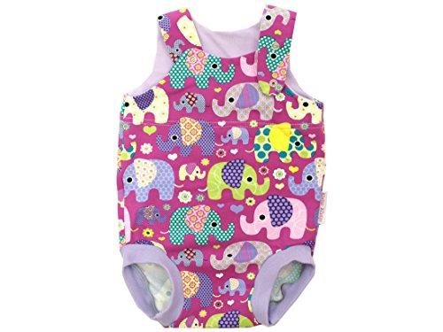 Body para bebé de verano para niña, diseño de elefantes, color lila,...
