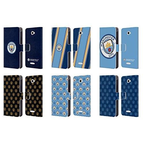 Officiel Manchester City Man City FC 2017/18 Insigne Étui Coque De Livre en Cuir pour Sony Téléphones 2