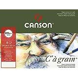 """CANSON Lot de 5 Pochettes 8 F Papier dessin """"C"""" à grain 24x32 cm 220g Blanc Nature"""
