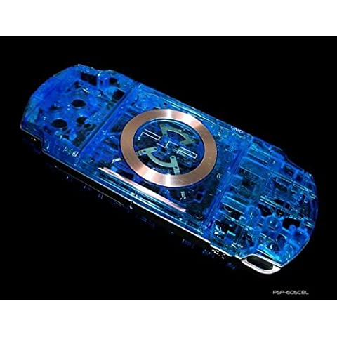 Consoles and Gadgets Sony Playstation PSP 2000 Crystal Clear Blue Replacement Console Shell by Consoles (Psp 2000 Console)