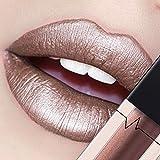 CICIYONER Damen Metall Lippenstift Lip Gloss Liquid Lippe Kosmetik, 24 Farben (18 #)