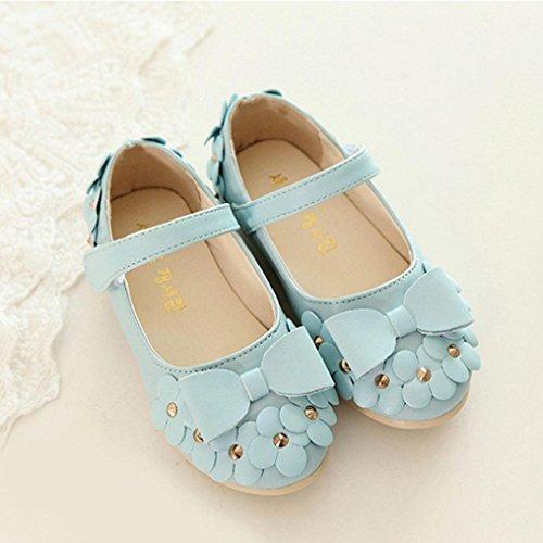 BZLine® Baby Frühlings-Blumenmädchen-Kind weiche Sandalen Babyschuhe Himmelblau