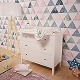 Polini Kids Wickelaufsatz für Kommode Hemnes IKEA in weiß, 1412.9