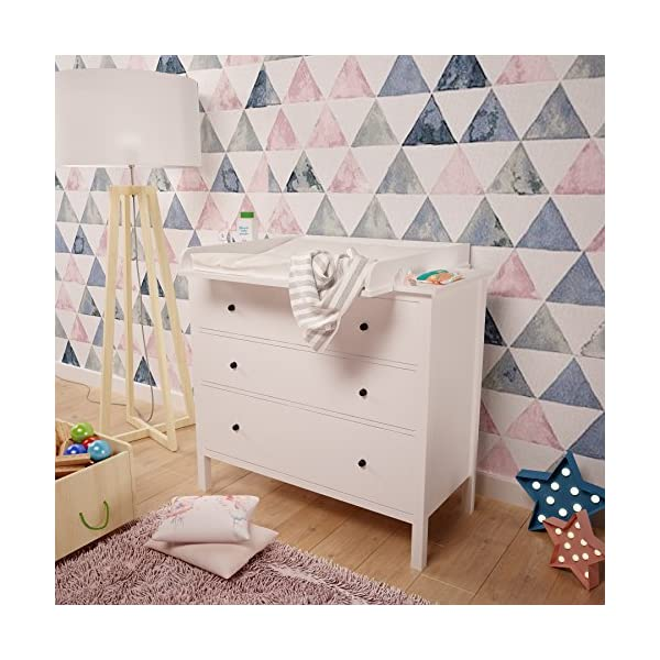 Polini Changing Board for Hemnes Chest of Drawer, White Polini Kids Ikea Malm Wickelaufsatz 1