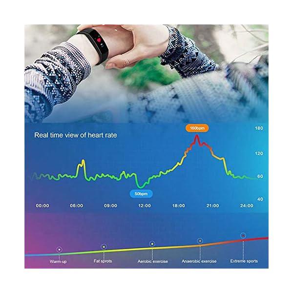 Maju Smartfit Fitness Tracker - Pulsera de actividad para fitness, con corazón, color rojo 6