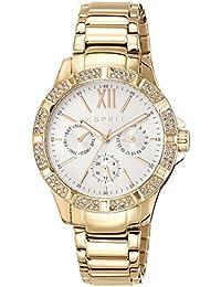 Esprit Damen-Armbanduhr ES-ALYCIA GOLD Analog Quarz Edelstahl beschichtet ES108472002