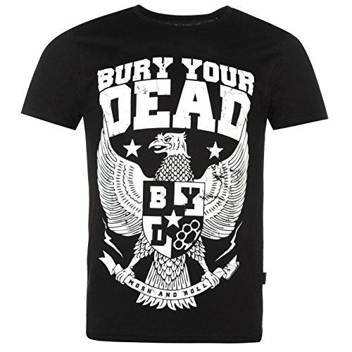 Official Bury Your Dead Herren T Shirt Tee Top Grafik Print Kurzarm Rundhals Eagle Extra LGE - Eagle Print Tee