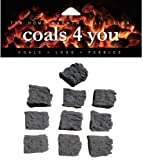 Best Bio Media - 20 Gas Fire Medium Coals Replacement Replacements/Bio Fuels/Ceramic/Boxed Review