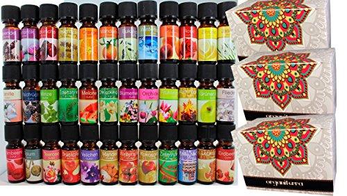 Set Aromaterapia 36 Botellas Aceites Perfumados con Aceites Esenciales en Cajas de Regalo. Incluye Fragancias exclusivas 10ml cada uno envase de vidrio. Hechos en Alemania. REF48