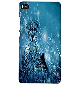 PrintDhaba Leopard D-4880 Back Case Cover for HUAWEI P8 (Multi-Coloured)