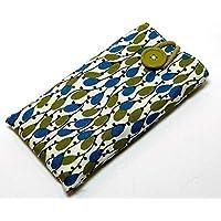 Handytasche aus Stoff - OLIVENBAUM - mit Knopf für APPLE iPhone 8 , 7 , 6s und 6 - gepolsterte Handyhülle - Smartphonehülle - Handy-Tasche / Handy-Hülle - iPhone-Tasche / iPhone-Hülle - Geschenk Weihnachten Geburtstag - Baumwolle - waschbar - cotton case / cover / sleeve