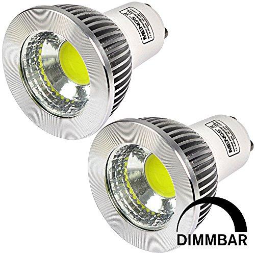 MENGS® 2 Stück Dimmbar GU10 COB LED Rampenlicht Lampe 5W Kaltweiß 6500K AC 220-240V Mit Aluminium Mantel -