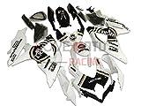 LoveMoto Verkleidung für GSX-R600 GSX-R750 K8 2008 2009 2010 08 09 10 GSXR 600 750 ABS Spritzguss Kunststoff-Motorradverkleidung-Sets Weiß Schwarz