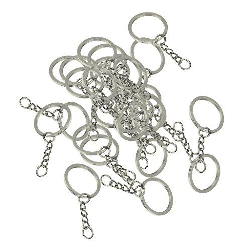 Gazechimp 30 Pcs Anneaux Porte-clé Avec Chaîne De Serpent En Alliage Accessoire DIY