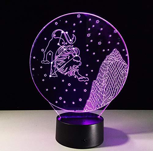 Leo Constellation 3D Nachtlichtsteuerung Touch Bunte 3D Lampe Usb Led Schreibtisch Tischlampe Als Geburtstag Gif