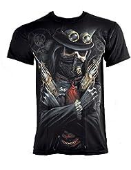 Spiral Direct Steampunk Bandit T Shirt (Noir)