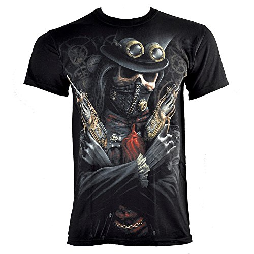 Spiral Direct Steampunk Bandit T Shirt (Nero) Nero