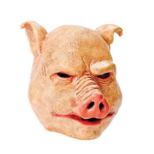 SCLMJ Cochon d'horreur Forme Halloween Latex Visage Complet Masque Animal Partie Masque Déguisement Accessoire Frais Généraux, X13001