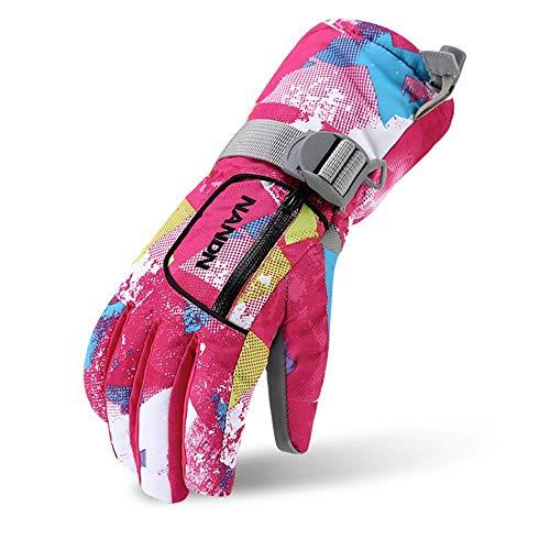 VERTAST Kinder Damen Herren Skihandschuhe Winddichte Wasserdichte Winter warme Handschuhe...