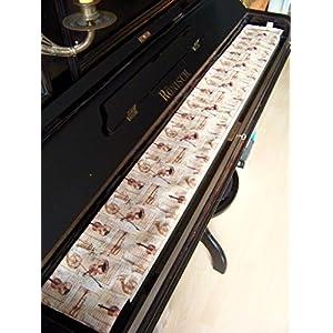Tastenläufer für Klavier Tastaturabdeckung Klavierabdeckung Tastatur Quartett