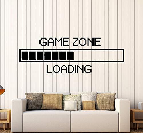 Finloveg Spiel Zone Computer Gaming Wandaufkleber Vinyl Wandtattoo Dekor Loading Video SpielWandtattooabnehmbare Tapete57X22 Cm