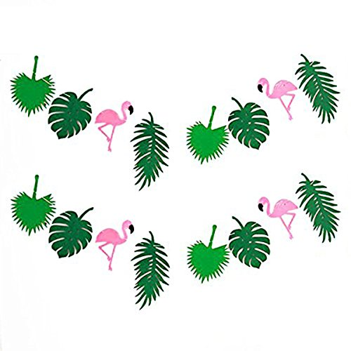 KEFAN Sommer Tropical Party Banner Girlande für Hawaiian Luau Geburtstag Party Festival Dekoration