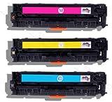 3er Pack Toner Kompatibel zu HP Laserjet 305 A Pro 300 Pro 400 Color M351A MFP M375nw M451dn M451dw M451nw M475dn M475dw ersetzt HP CE411A CE412A CE413A (C,Y,M)